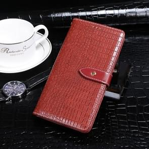 Voor Xiaomi Mi 10 idewei Crocodile Texture Horizontal Flip Leather Case met Holder & Card Slots & Wallet(Red)