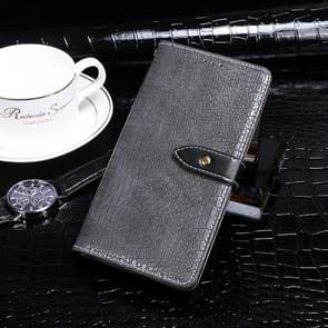 Voor Xiaomi Mi 10 idewei Crocodile Texture Horizontal Flip Leather Case met Holder & Card Slots & Wallet(Grijs)