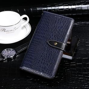 Voor Xiaomi Mi 10 idewei Crocodile Texture Horizontal Flip Leather Case met Holder & Card Slots & Wallet(Donkerblauw)