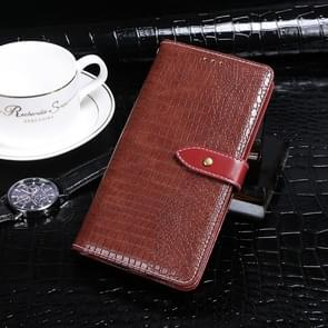 Voor Xiaomi Mi 10 idewei Crocodile Texture Horizontal Flip Leather Case met Holder & Card Slots & Wallet(Wine Red)