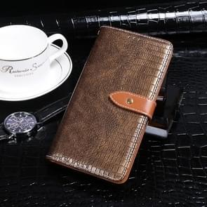 Voor Xiaomi Mi 10 Pro idewei Crocodile Texture Horizontal Flip Leather Case met Holder & Card Slots & Wallet(Coffee)