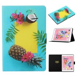 Voor iPad Air / Air 2 Gekleurd tekenpatroon Horizontaal Flip Lederen Hoes met Houder & Card Slot & Sleep / Wake-up Function(Pineapple)