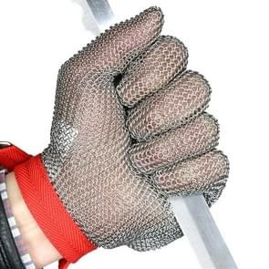304 Stainless Steel 5 Fingers Steel Ring Anti-cutting Labor Protection Gloves  Size:M