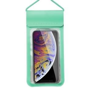 Voor smartphones onder 6 5 inch PU + TPU waterdichte tas met Lanyard(Groen)