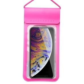 Voor smartphones onder 6 5 inch PU + TPU waterproof bag met Lanyard (Rood)
