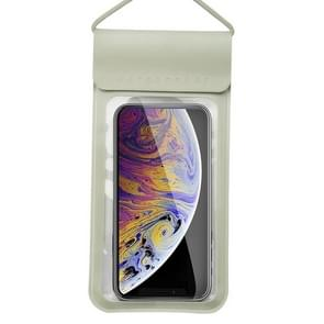 Voor smartphones onder 6 5 inch PU + TPU waterdichte tas met Lanyard(Gold)