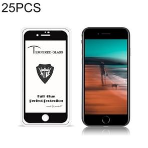 Voor iPhone SE 2 25 PCS MIETUBL 9H Full Glue Full Screen Tempered Glass Film