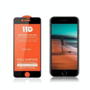 Voor iPhone SE 2 mietubl Krasbestendige 11D HD Full Glue Full Curved Screen Tempered Glass Film