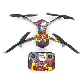 STARTRC Voor DJI Mavic Air 2 PVC Machine Body + Afstandsbediening + Batterij Decoratieve Stickers Set (Animated Graffiti)
