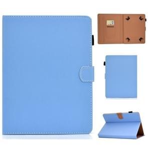 Voor 8 inch Solid Color Tablet PC Universal Magnetic Horizontal Flip Leather Case met kaartsleuven & holder(blue)
