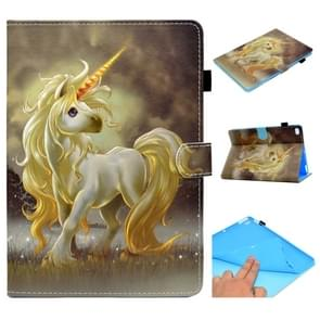 Voor iPad Air / Air 2 / iPad 9.7 / 2017 / 2018 Painted Horizontal Flat Leather Case met Sleep Function & Card Slot & Buckle Anti-slip Strip & Bracket & Wallet(Unicorn)
