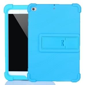 Voor iPad mini 5 / 4 Tablet PC Siliconen beschermhoes met onzichtbare beugel (Sky Blue)
