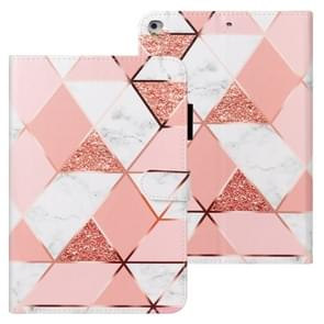 Voor iPad Air Cross Texture Painted Horizontal Leather Case with Sleep / Wake-up Function & Card Slot & Wallet (Pink Marble)