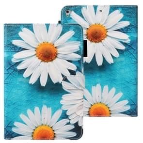 Voor iPad Air Cross Texture Painted Horizontal Leather Case with Sleep / Wake-up Function & Card Slot & Wallet (Chrysanthemum)