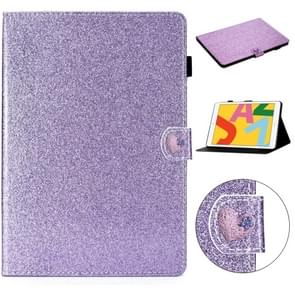 Voor iPad Air Love Buckle Glitter Horizontale Flip Lederen Case met Holder & Card Slots(Paars)