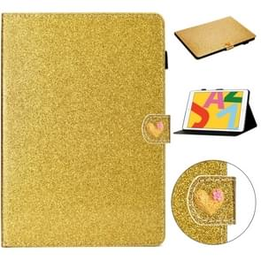 Voor iPad Air Love Buckle Glitter Horizontale Flip Lederen Case met Holder & Card Slots(Gold)
