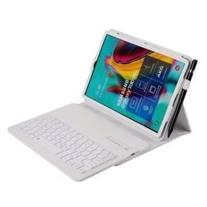SA610 Voor Samsung Galaxy Tab S6 Lite 10.4 P610 / P615 (2020) 2 in 1 Afneembaar Bluetooth-toetsenbord + Litchi textuur beschermhoes met stand & pensleuf(wit)