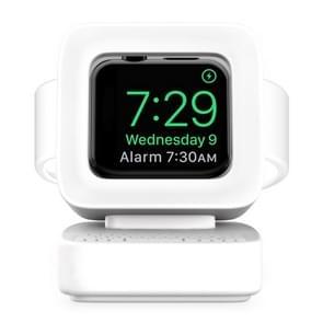 Voor Apple Watch 44/42/40/38mm Retro Watch StandHouder(Wit)