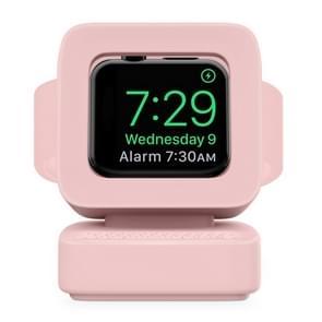 Voor Apple Watch 44/42/40/38mm Retro Watch StandHouder (Roze)
