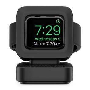 Voor Apple Watch 44/42/40/38mm Retro Watch StandHouder(Zwart)