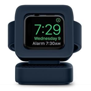 Voor Apple Watch 44/42/40/38mm Retro Watch StandHouder (Donkerblauw)