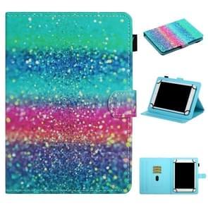 Voor 8 inch Universal Tablet PC Colored Drawing Pattern Horizontale Flip Lederen Case met Holder & Card Slots (Gekleurd zand)