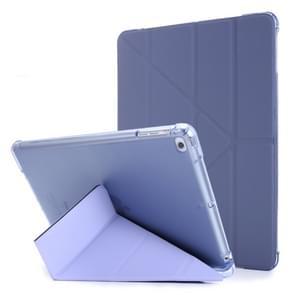 Voor iPad Air 2 Airbag Vervorming Horizontale Flip Lederen Behuizing met houder & penhouder(Paars)