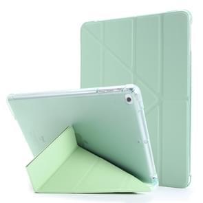 Voor iPad Air 2 Airbag Vervorming Horizontale Flip Lederen Behuizing met houder & penhouder(Mintgroen)