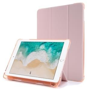Voor iPad Air 2 Airbag Horizontale Flip Lederen Behuizing met drievoudige houder & penhouder(roze)
