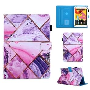 Voor 8 inch Universal Tablet PC Colored Drawing Pattern Horizontale Flip Lederen Case met Holder & Card Slots & Anti-skid Strip(Red)