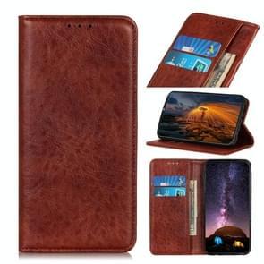 Voor iPhone 12 6 1 inch Magnetic Crazy Horse Texture Horizontale Flip Lederen case met Holder & Card Slots & Wallet(Bruin)