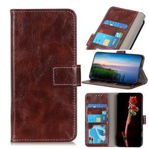 Voor iPhone 12 6 7 inch Retro Crazy Horse Texture Horizontale Flip Lederen case met Holder & Card Slots & Photo Frame & Wallet(Bruin)