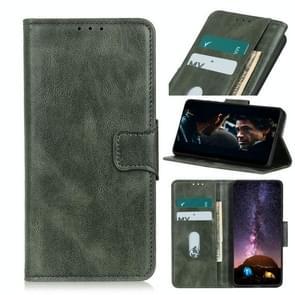 Voor iPhone 12 6 1 inch Mirren Crazy Horse Texture Horizontale Flip Lederen case met Holder & Card Slots & Wallet(Donkergroen)