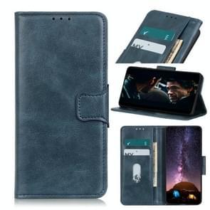Voor iPhone 12 6 7 inch Mirren Crazy Horse Texture Horizontale Flip Lederen case met Holder & Card Slots & Wallet(Blauw)