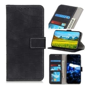 Voor iPhone 12 6 7 inch Crocodile Texture Horizontale Flip Lederen case met Holder & Card Slots & Wallet(Zwart)