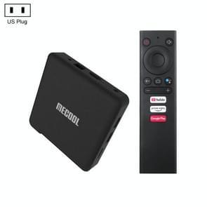 MECOOL KM1 4K Ultra HD Smart Android 9.0 Amlogic S905X3 TV Box met afstandsbediening  2 GB+16 GB  ondersteuning Dual Band WiFi 2T2R/HDMI/TF-kaart/LAN  Amerikaanse stekker