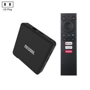MECOOL KM1 4K Ultra HD Smart Android 9.0 Amlogic S905X3 TV Box met afstandsbediening  4GB+32GB  Ondersteuning Dual Band WiFi 2T2R/HDMI/TF-kaart/LAN  Amerikaanse stekker
