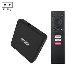 MECOOL KM1 4K Ultra HD Smart Android 9.0 Amlogic S905X3 TV Box met afstandsbediening  4GB+64GB  Ondersteuning Dual Band WiFi 2T2R/HDMI/TF-kaart/LAN  EU-stekker