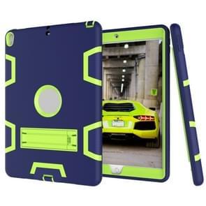 Voor iPad Pro 10 5 inch (2017) Shockproof PC + Siliconen beschermhoes  met houder (Navy Blue Yellow Green)
