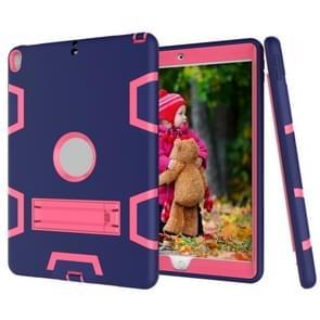 Voor iPad Pro 10 5 inch (2017) Shockproof PC + Siliconen beschermhoes  met Holder (Navy Blue Rose)