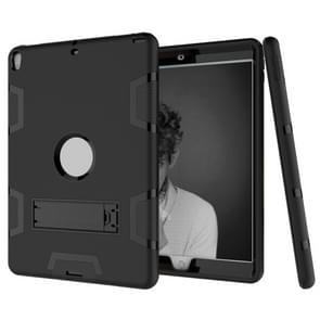 Voor iPad Pro 10 5 inch (2017) Shockproof PC + Siliconen beschermhoes  met houder(zwart)