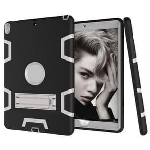 Voor iPad Pro 10 5 inch (2017) Shockproof PC + Siliconen beschermhoes  met houder (Zwart grijs)