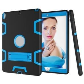 Voor iPad Pro 10 5 inch (2017) Schokbestendige pc + siliconen beschermhoes  met houder(Zwart blauw)