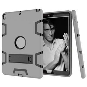 Voor iPad Pro 10 5 inch (2017) Schokbestendige pc + siliconen beschermhoes  met houder(Grijs Zwart)