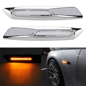 2 PCS Auto Fender Light LED Leaf Board Side DC12V / 1.7W voor BMW  Geel Licht  Style:A