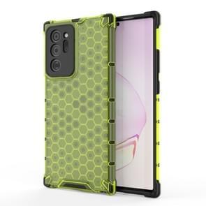 Voor Samsung Galaxy Note 20+ Schokbestendige honingraat PC + TPU beschermhoes(groen)