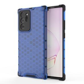 Voor Samsung Galaxy Note 20+ Schokbestendige honingraat PC + TPU beschermhoes(blauw)