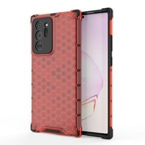 Voor Samsung Galaxy Note 20+ Schokbestendige honingraat PC + TPU beschermhoes(Rood)