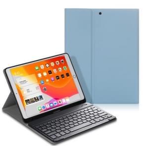 Voor iPad Air (2019) Elektrisch geperst horizontaal flip lederen hoes met Pen Slot & Houder & Keyboard(Lichtblauw)