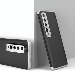 Voor Xiaomi Mi 10 GKK Three Stage Splicing Full Coverage PC Protective Case (Black Silver)